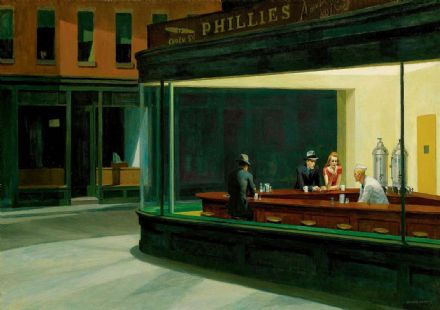 Hopper, Edward: Nighthawks. Fine Art Print/Poster. Sizes: A4/A3/A2/A1 (003)